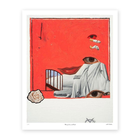 Image of Emilio Villalba  MONEY, LOVE AND DEATH FINE ART PRINT