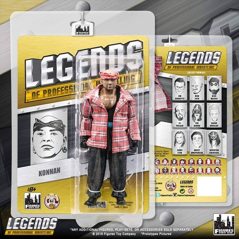 Image of Konnan Action Figure by Figures Toy Company - SOLD OUT - GET IT NOW at FiguresToyCompany.com