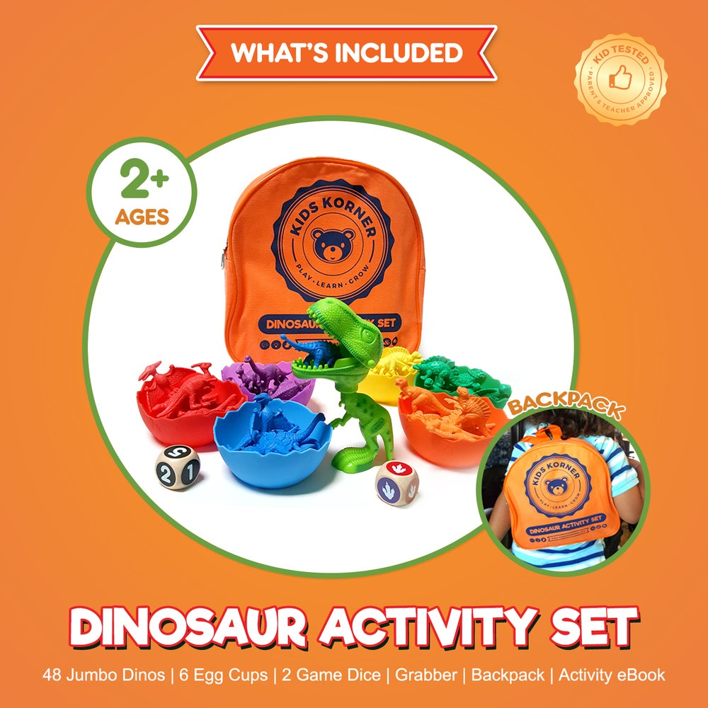 Image of Jumbo Sorting & Counting Dinosaurs Activity Set