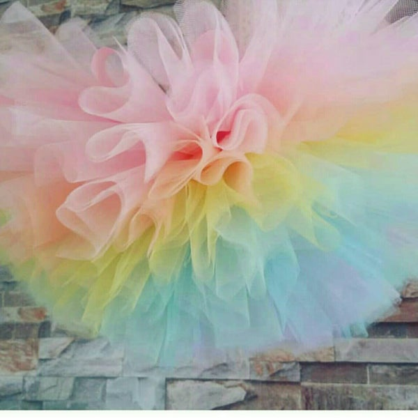 Image of Rainbow Layer Puffball Tutu