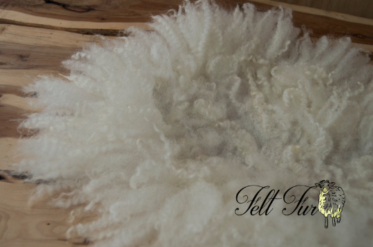 Image of PRE ORDER All sizes/ colours. Fluffy Fringe (202) Felted Prop. Newborn Photography Posing Layer. Fel