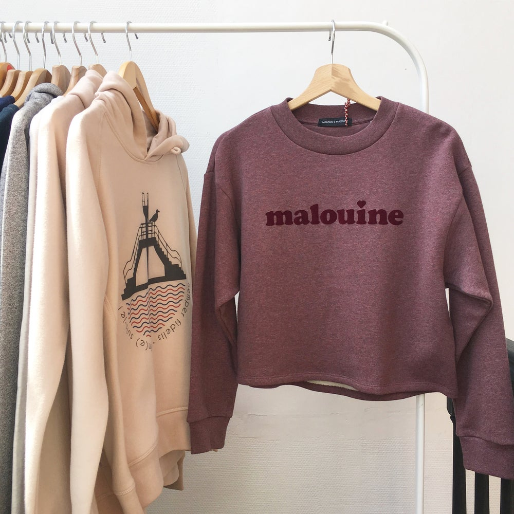 Image of SWEAT-SHIRT MALOUINE // BORDEAUX