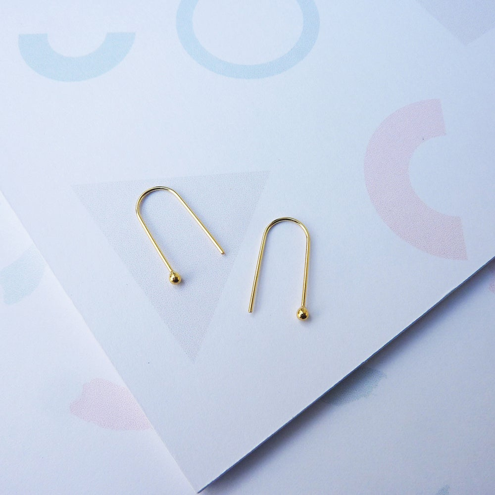 Image of *NEW* Arc Earrings in Gold