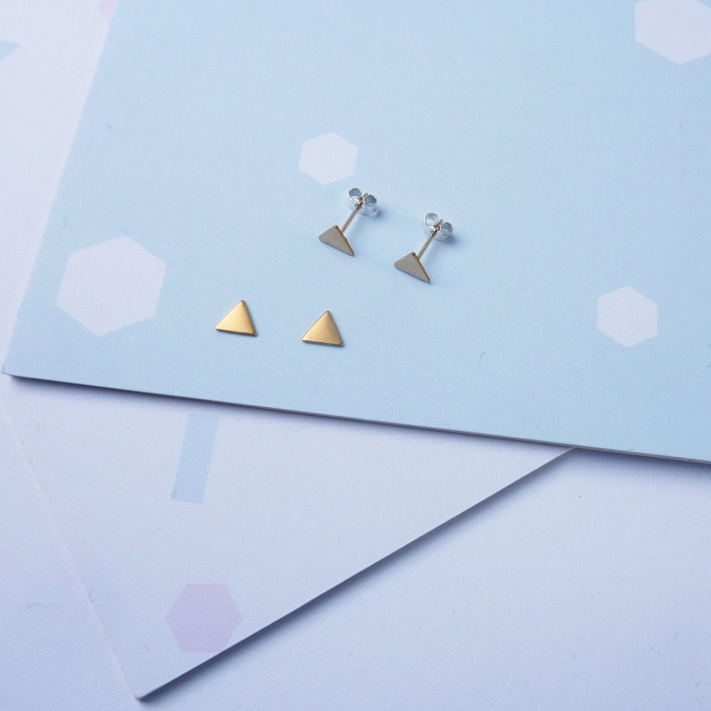 Image of Tiny Triangle Studs