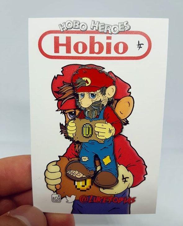 Image of Hobio Hard Enamel Pin Badge