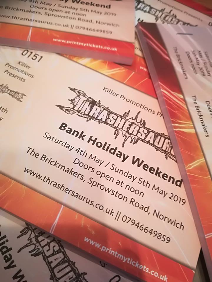 Image of Thrashersaurus weekend ticket 4 & 5th May 2019