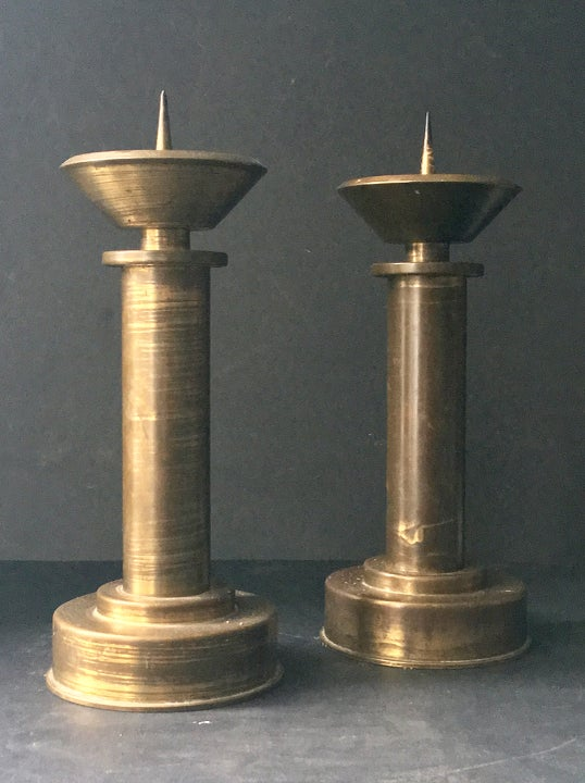 Image of Pair of Art Deco Candlesticks