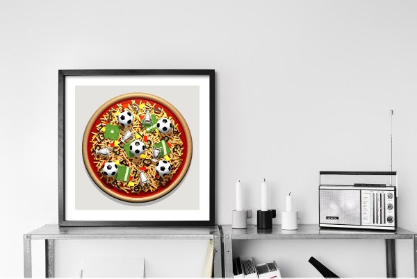 Image of Pizza Art - Football