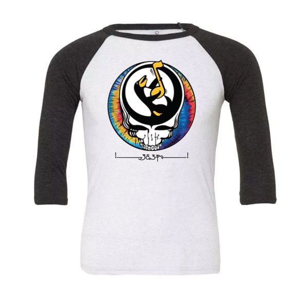 "Image of Unisex ""Stealie"" 3/4 sleeve raglan"