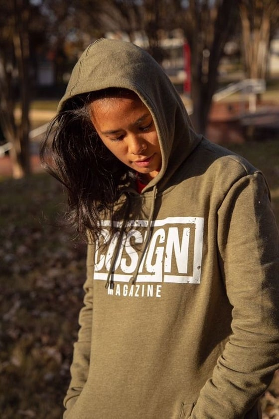 Image of Olive - Classic COSIGN Logo Hoodie