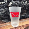 Montana Mountain Frosted Pint Glass