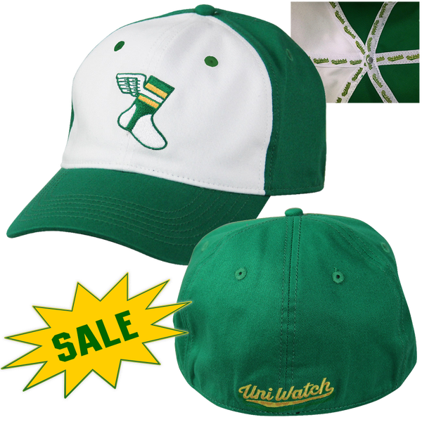 "Image of UNI WATCH WINGED STIRRUP ""ALTERNATE"" STRETCH-FIT CAP"