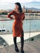 Image of Vestido Roma en terciopelo