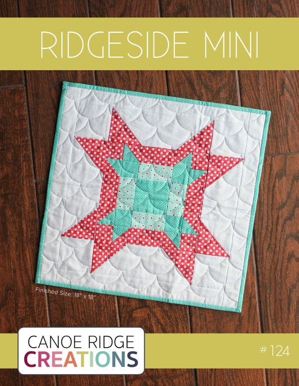 Image of Ridgeside Mini Quilt #124, PDF Pattern