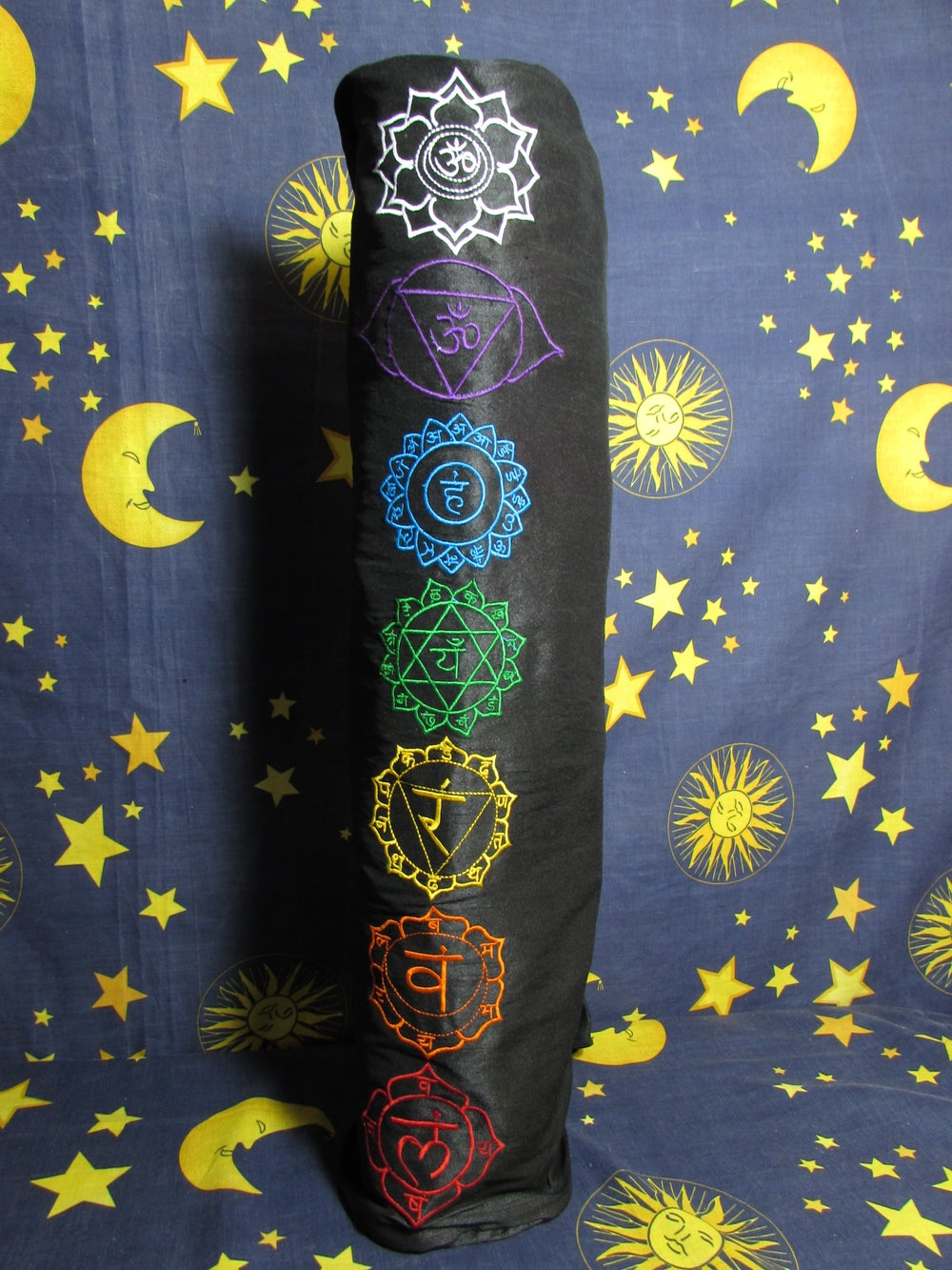 Multi-Colour Embroided 'Chakra' Yoga / Pilates Mat Bag with Zip