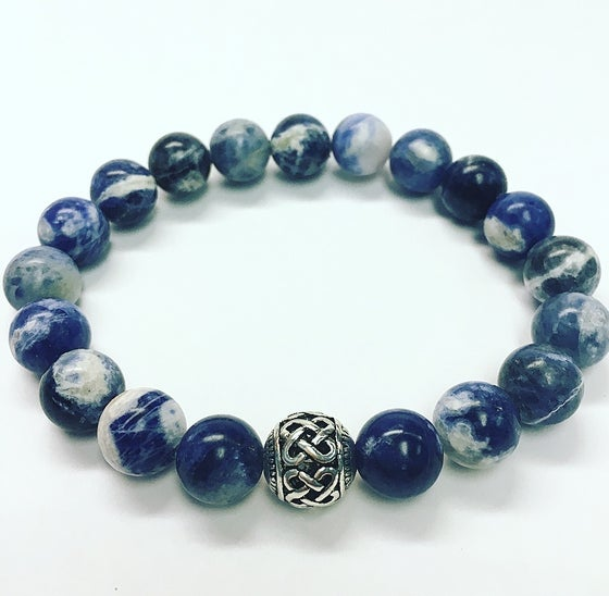 Image of Men's Blue Sodalite Bracelet