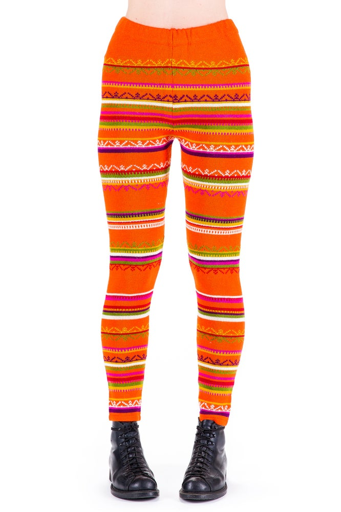 Image of WOOLEN LEGGINGS orange
