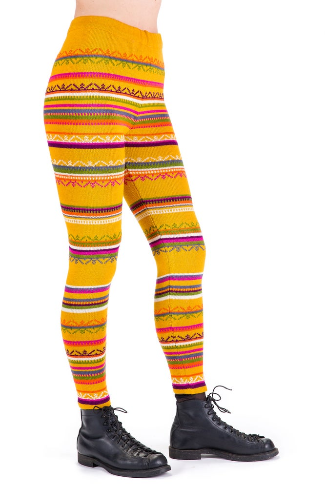 Image of WOOLEN LEGGINGS yellow