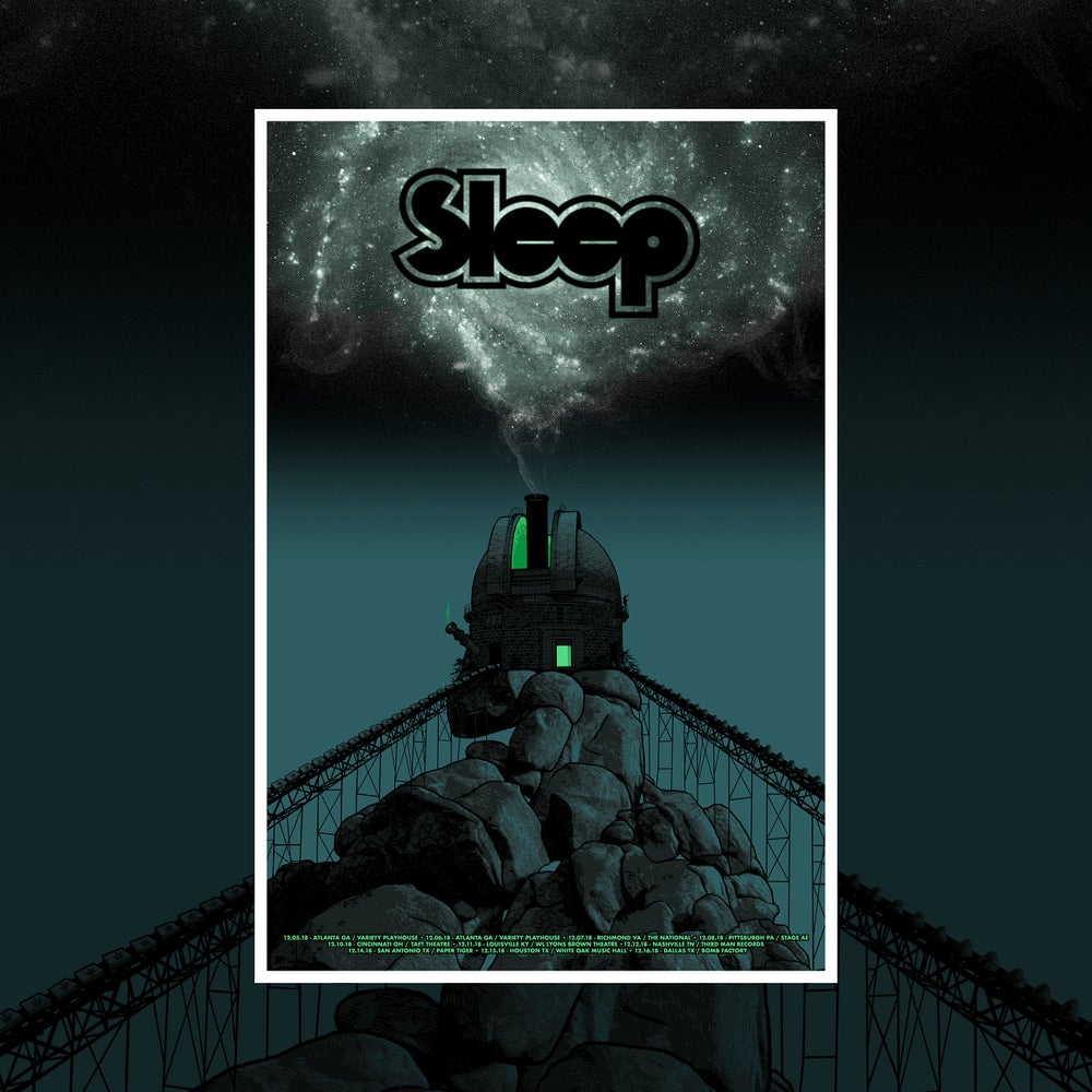 Image of SLEEP - December tour poster