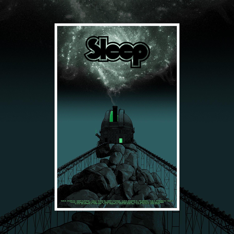 Image of SLEEP - December tour poster