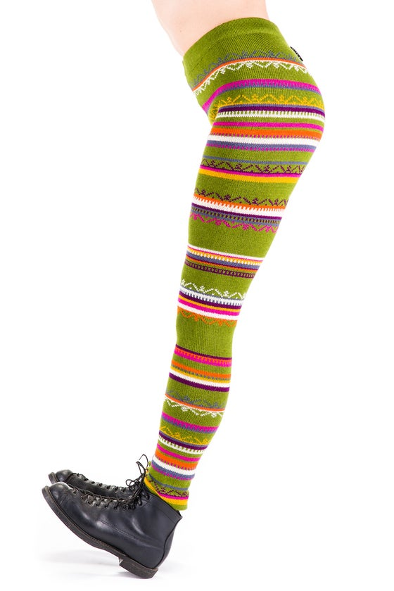 Image of WOOLEN LEGGINGS bright green