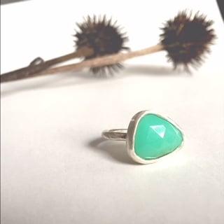 Image of Chrysoprase Ring