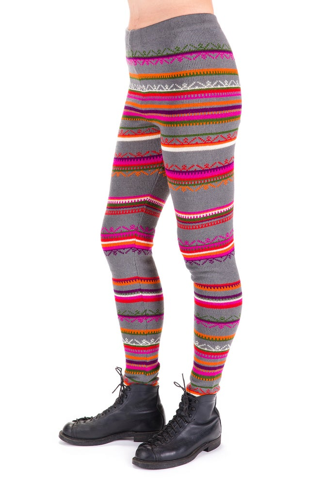Image of WOOLEN LEGGINGS grey