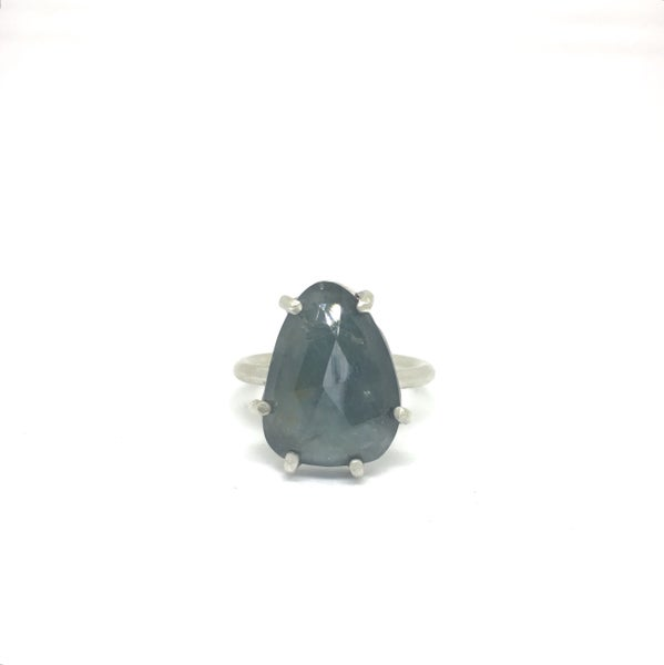 Image of Rosecut Aquamarine Ring