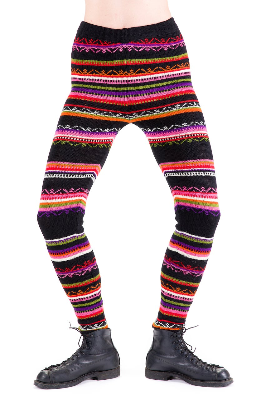 Image of WOOLEN LEGGINGS black