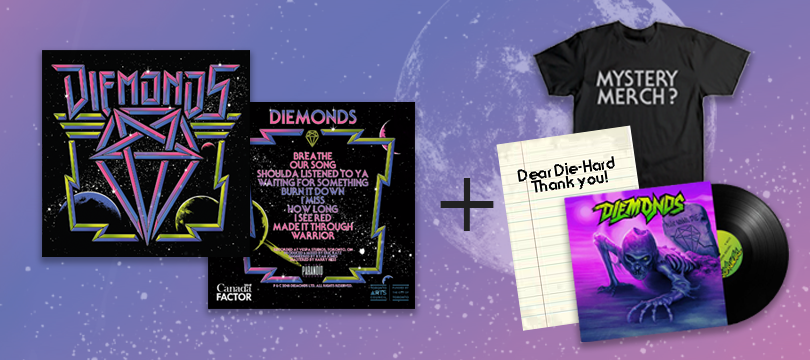 """Image of DIEMONDS SELF TITLED LP """"SMOKE VINYL"""" **LIMITED TO 100** + NWD LP + MYSTERY MERCH + THANK YOU LETTER"""