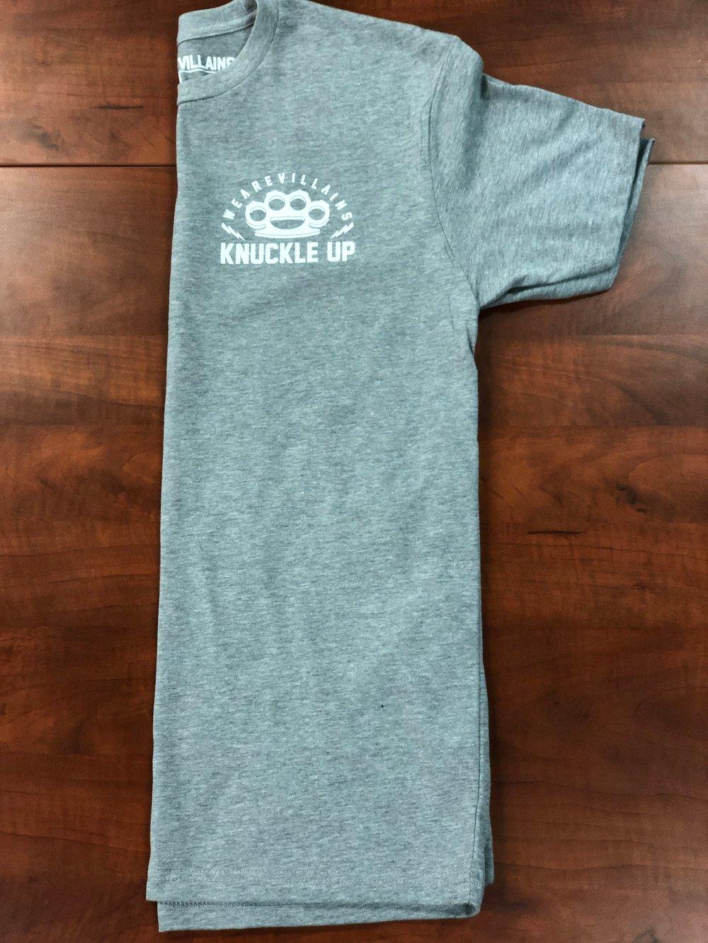 Knuckle Up grey tee