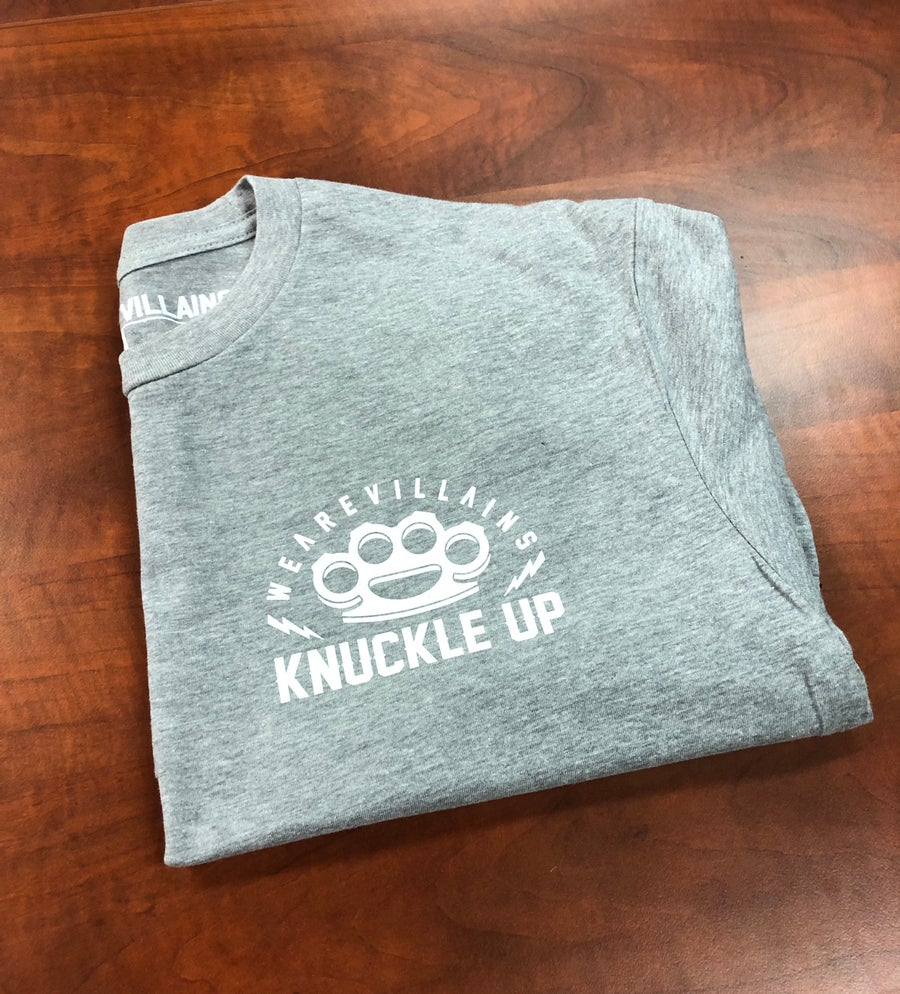 Image of Knuckle Up grey tee