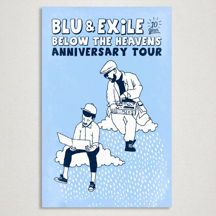 "Image of Blu & Exile ""Below The Heavens"" 10th Anniversary 11x17"" Poster"
