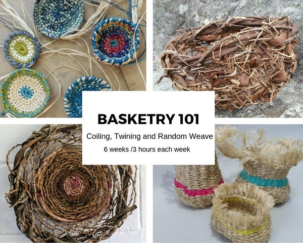 Image of Basketry 101 -  6 week course Starts friday 7th February to 13th March 9:30 to 12:30
