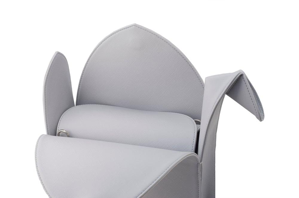 Image of Gray Vegan Leather Origami Crane Purse