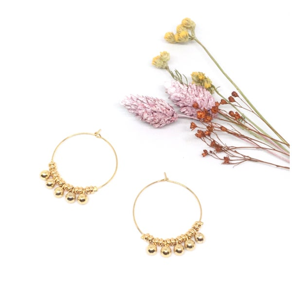 Image of BELLA hoop earrings