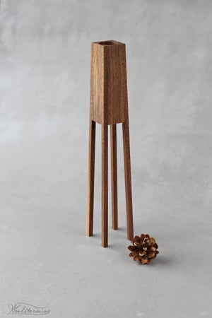 """Image of Modern wood vase """"Tower"""" - ready to ship"""