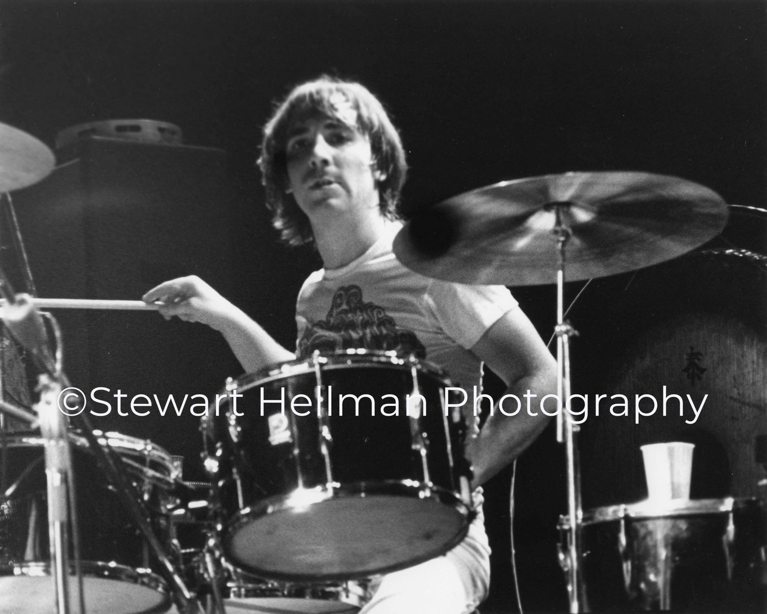 Image of Keith Moon (The Who, Tanglewood Music Shed, 1970) : Limited Edition Fine Art Print #1
