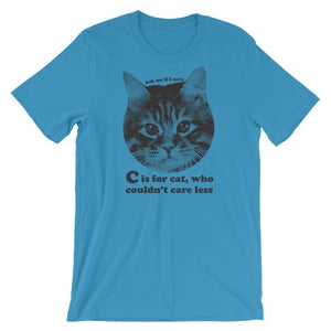 Image of  C is for Cat - unisex/men's tee