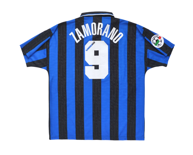 Image of 1996-97 Umbro Inter Milan Home Shirt 'Zamorano 9' XL