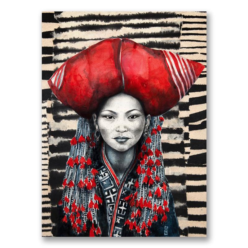 """Image of Canva Art Print - """"Chez les Dzaos rouges"""""""