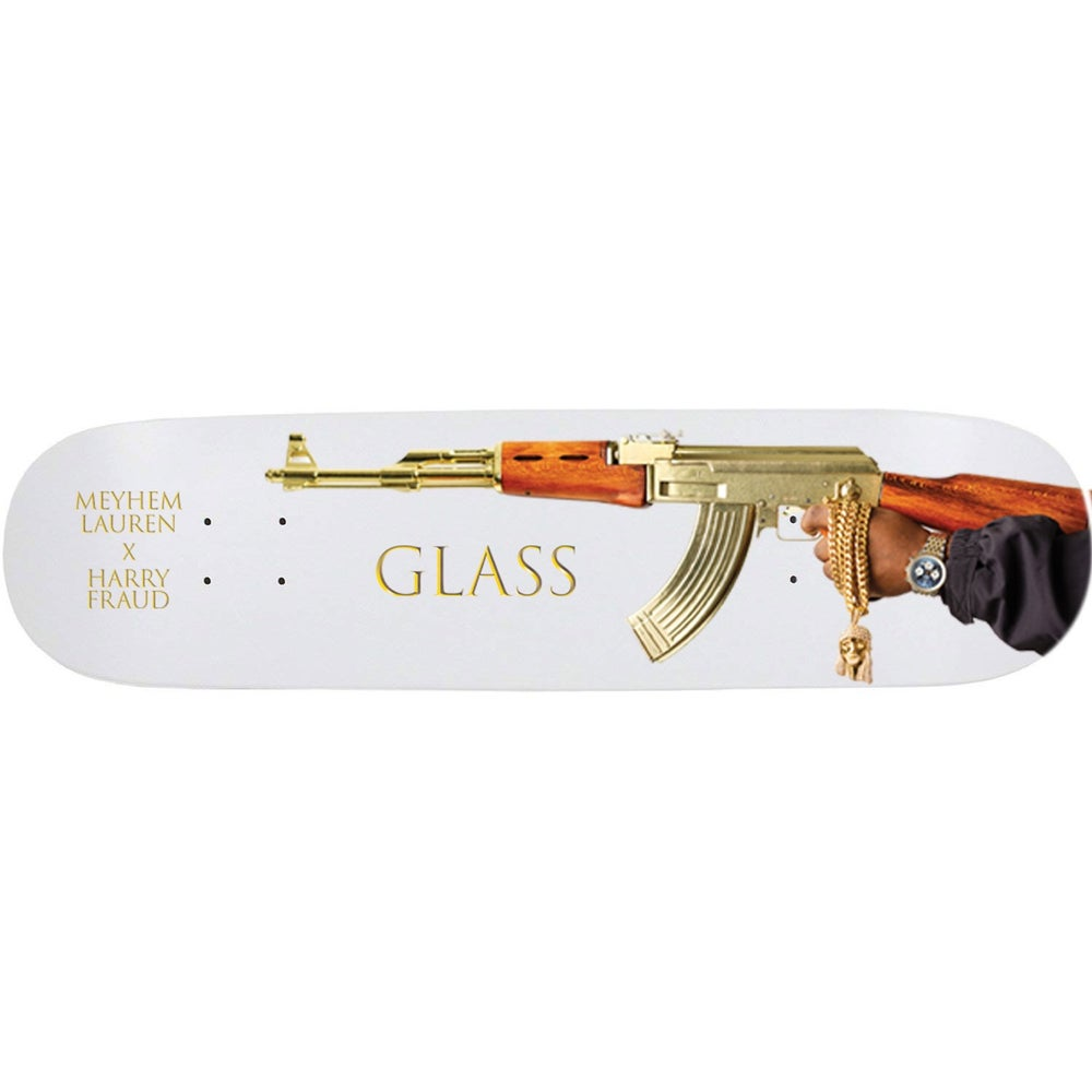 "Image of 550 X Meyhem Lauren X Harry Fraud - ""GLASS"" Decks"