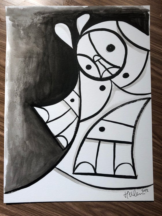 Image of Shadows #1 Original Ink/Brush Sketch