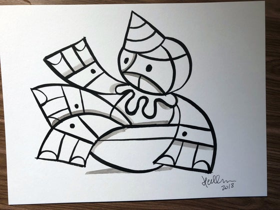 Image of Teeter #2 Original Brush/Ink Sketch