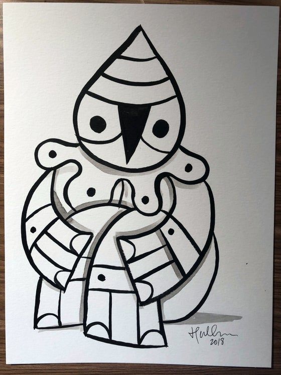 Image of 'Harlequin' Original Brush/Ink Sketch