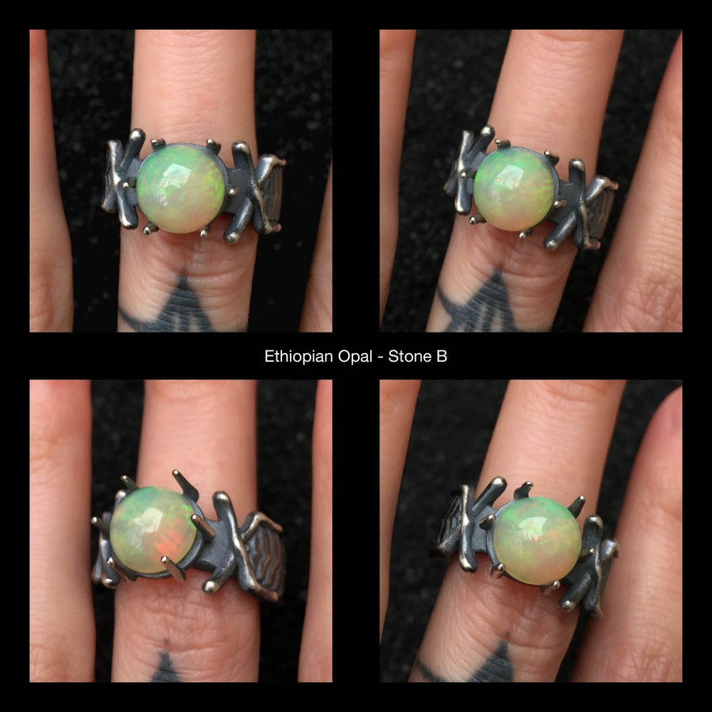 Image of The Nazgûl Ring (OOAK Opal B, Stone Only)