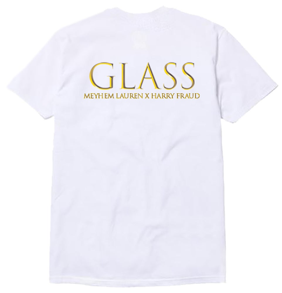 "Image of 550 X Meyhem Lauren X Harry Fraud- ""GLASS"" Tee's"
