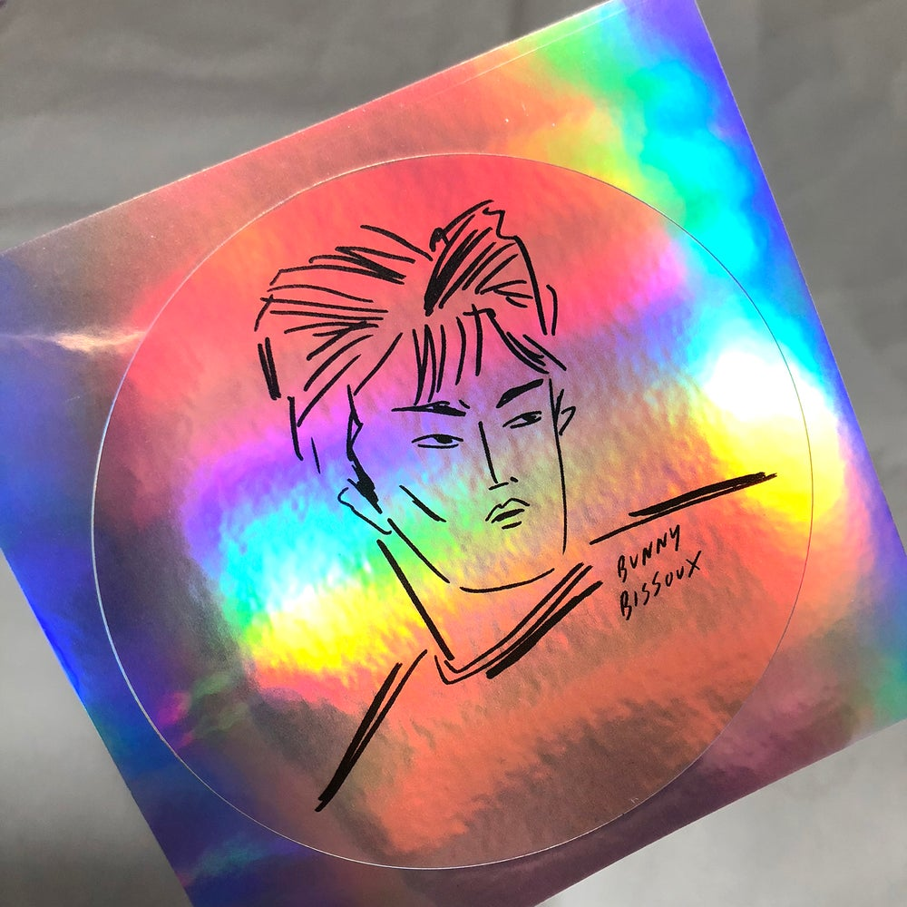 Image of BUNNY BISSOUX 'BOY' - HOLOGRAPHIC STICKER