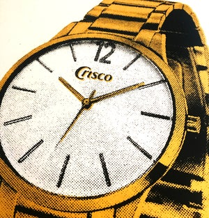 "Image of ""Crisco Wristwatch"" • 13""x19"" Screen Printed Poster"