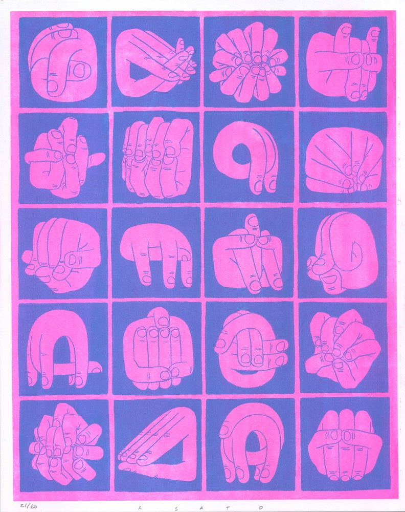 Image of Bad Hands (color: Night Pink)